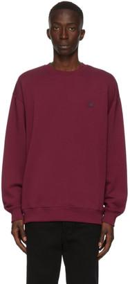 Acne Studios Burgundy Oversized Sweatshirt