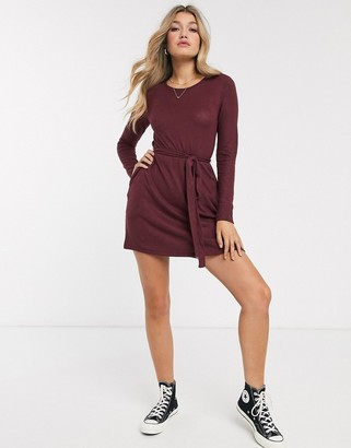 Abercrombie & Fitch cosy swing dress-Red