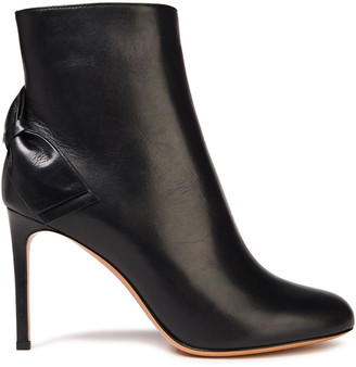 Valentino Bow-embellished Leather Ankle Boots