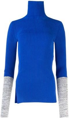 MONCLER GENIUS Moncler 1952 Bicolor Cuff Turtleneck Sweater