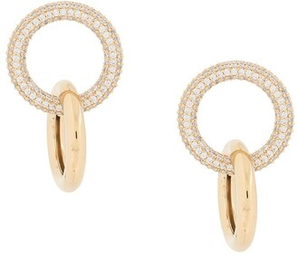 Numbering Double-Link Pave Earrings