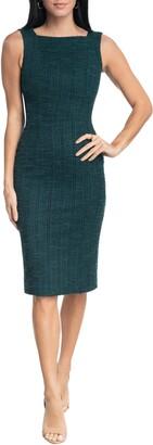 Dress the Population Donada Stretch Tweed Sheath Dress