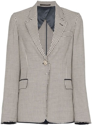 Golden Goose single-breasted gingham blazer