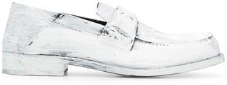Maison Margiela Paint-Effect Leather Loafers