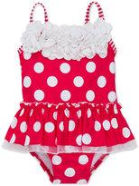 Little Me 1-Pc. Dot-Print Skirted Swimsuit, Baby Girls (0-24 months)