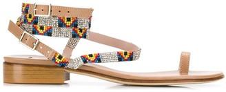 Leandra Medine Embellished Detail Sandals