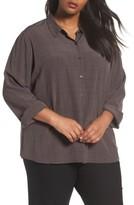 Eileen Fisher Plus Size Women's Tencel Blend Shirt
