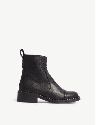 Zadig & Voltaire Empress Clous studded leather ankle boots