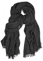 Rick Owens Anthracite Wool Blend Scarf