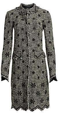 Giambattista Valli Women's Floral Embroidered Tweed Coat