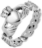 Celtic ELYA Stainless Steel Claddagh Ring with Knot Eternity Design (5mm)