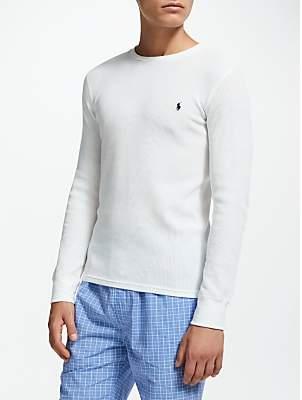 Ralph Lauren Polo Waffle Long Sleeve T-Shirt, White