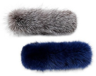 Wolfie Fur Set of Two Full Dyed Fox Fur Headbands