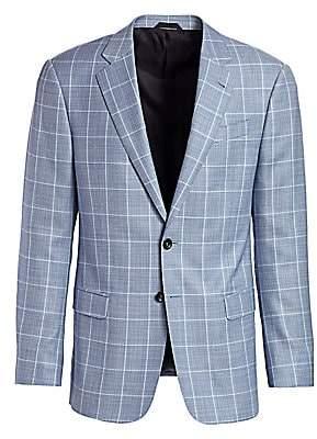 Giorgio Armani Men's Windowpane Wool Blazer