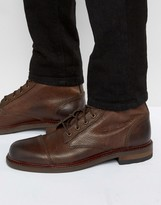 Aldo Acerrassi Leater Laceup Boots