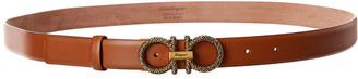 Salvatore Ferragamo Gancini Adjustable Leather Belt