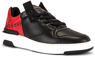 Givenchy Print Low Top Wing Sneaker in Black & Red | FWRD