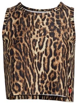 R 13 Cheetah Crop Tank Top