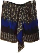 Les Petites Blue Silk Skirt for Women
