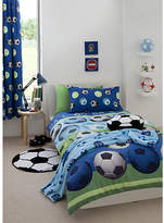Catherine Lansfield Football Blue Child's Bedding Set - Sgl