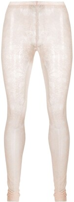 RED Valentino Sheer Floral Lace Tights