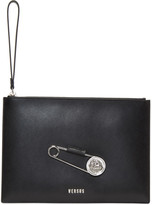 Versus Black Large Safety Pin Pouch