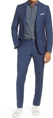 BOSS Novan/Ben Slim Fit Micropattern Wool Suit