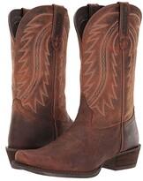 Durango 12 Rebel Frontier Blunt Toe (Distressed Sunset Brown) Men's Shoes