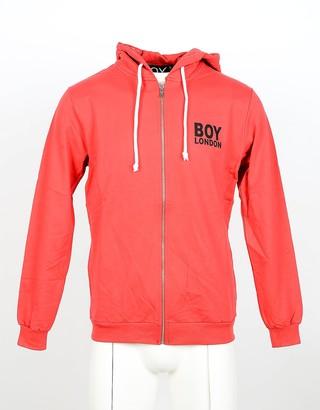 Boy London Red Cotton Zip Front Men's Hoodie