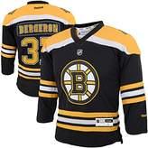 Reebok Patrice Bergeron Boston Bruins Black Yellow NHL Home Jersey