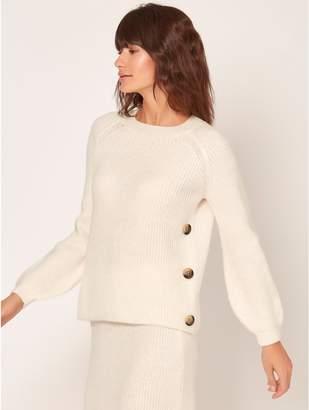M&Co Ribbed blouson sleeve jumper