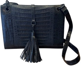 Nancy Gonzalez Navy Crocodile Handbags