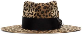 Nick Fouquet Lynx Fepsa grosgrain-trimmed wool-felt hat