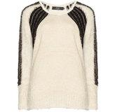 Zay Plus Size Knit sweater with shiny insert