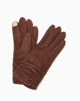 Charming charlie Text Tab Ruched Gloves