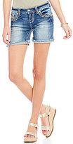 Miss Me Thick Stitch Stretch Denim Shorts