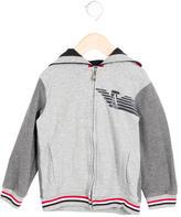 Armani Junior Boys' Zip-Up Hooded Sweatshirt