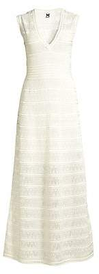 M Missoni Women's Sleeveless Zig-Zag Knit Maxi Dress