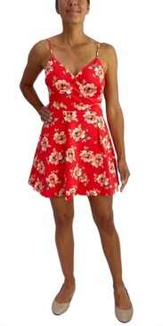 City Studios Juniors' Lace-Back Fit & Flare Dress