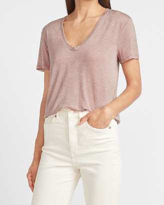 Express Soft V-Neck Relaxed Tee