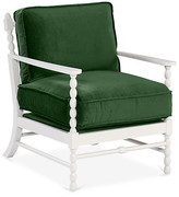 Mr & Mrs Howard Laguna Accent Chair - Emerlad Velvet frame, white; upholstery, emerald
