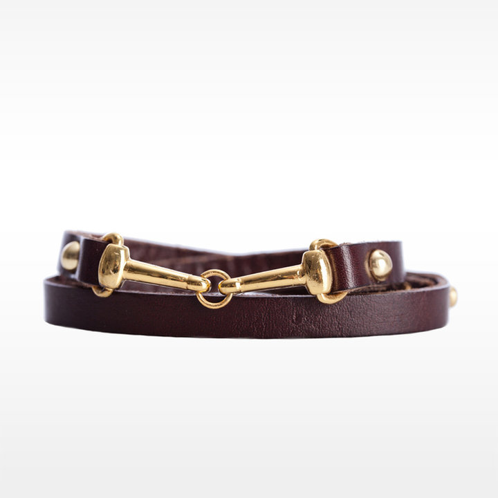 Linea Pelle Double Wrap Harness Cuff