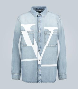 Valentino VLOGO boxy denim jacket