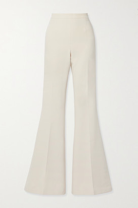 Safiyaa Halluana Stretch-crepe Flared Pants - Ivory