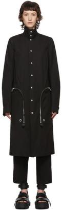 Rick Owens Black Creatch Pealab Coat