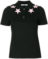 Givenchy star appliqué polo shirt - women - Cotton - 38