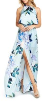 Show Me Your Mumu Women's Heather Chiffon Halter Gown