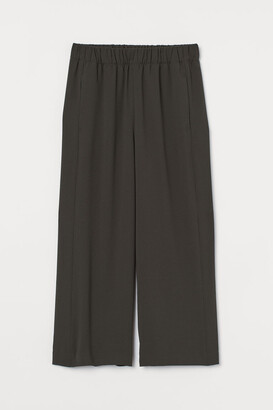 H&M Cropped Pants - Green