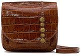 Etienne Aigner Lancaster Crocodile-Embossed Mini Cross-Body Bag