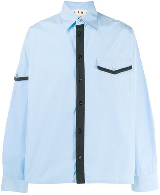 Marni Contrast Piped Trim Shirt